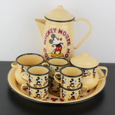 Vintage Mickey Mouse enamel tableware by Demons and Merveilles