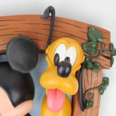 Vintage Polyresin coat rack of Mickey Mosue and Pluto