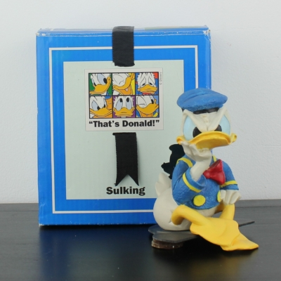 Donald Duck sulking Polyresin statue by Enesco