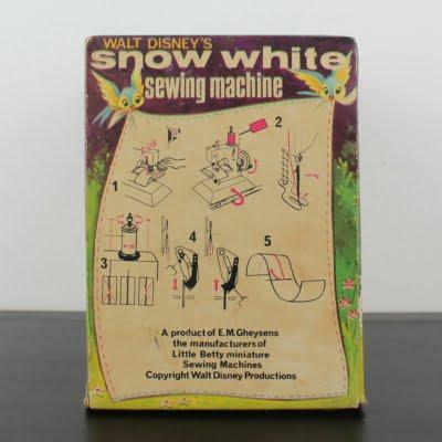 Antique Snow White sewing machine by E. Gheyesens of Kent in license of Walt Disney
