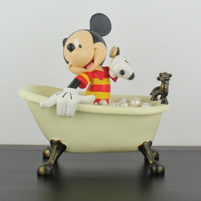 Mickey Mouse in his bathtub statue