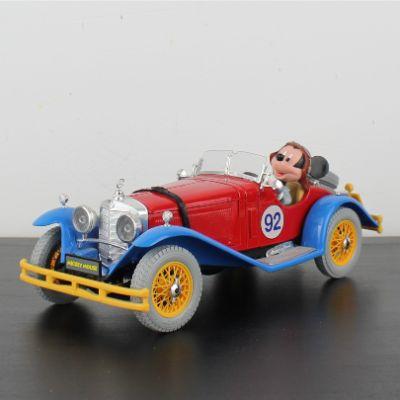 Mickey Mouse Mercedes Benz SSK model car by Bburago in license of Walt Disney