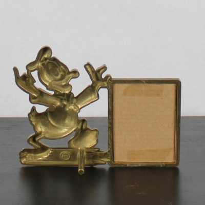 Vintage brass Donald Duck picture frame by GATCO