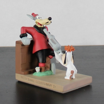 Vintage Droopy with Wolf statue by Demons and Merveilles