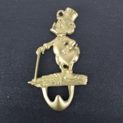 Vintage Scrooge McDuck wall bracket from brass by GATCO