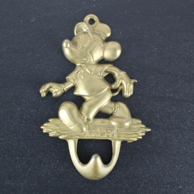 Vintage Mickey Mouse wall bracket from brass by GATCO