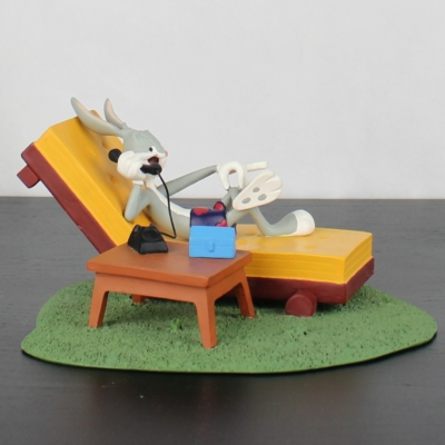 Bugs Bunny on the phone statue by Atlas