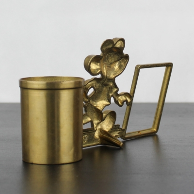 Mickey Mouse picture frame with pen tray by GATCO
