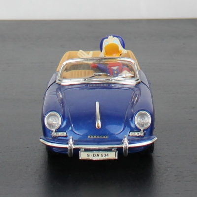 Scrooge McDuck Porsche 356 Cabriolet model car by Bburago in license of Walt Disney