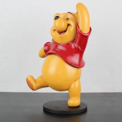 Big Polyester statue of Winnie the Pooh dancing by Walt Disney