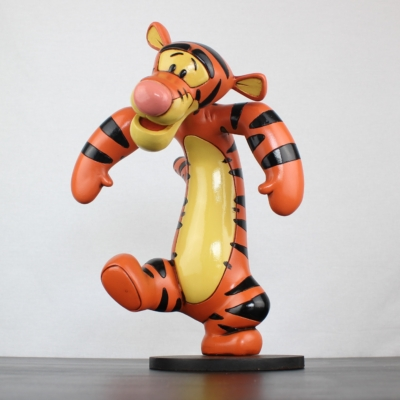 Big Polyester statue of Tigger dancing by Walt Disney