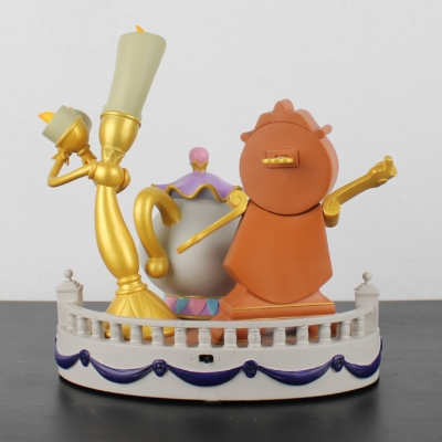 Lumiere, Cogsworth, Mrs Potts and Chip statue by Walt Disney