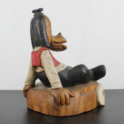 Vintage, wooden statue of Goofy