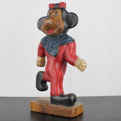 Vintage, wooden Minnie Mouse statue