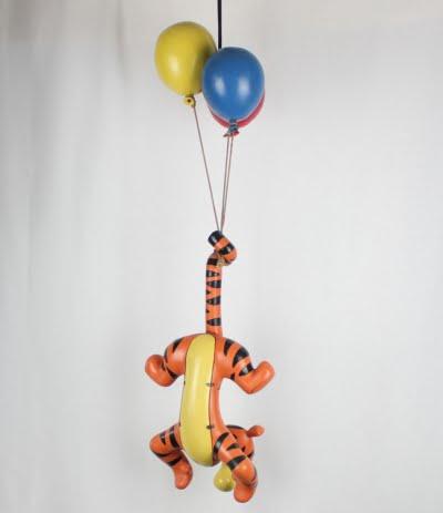 Vintage Tigger on balloons big statue Walt Disney