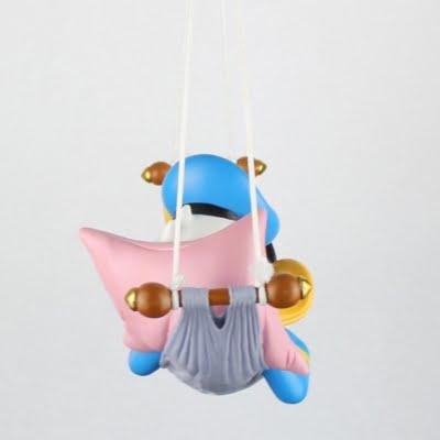 Donald Duck asleep in his hammock big Polyresin statue by Walt Disney
