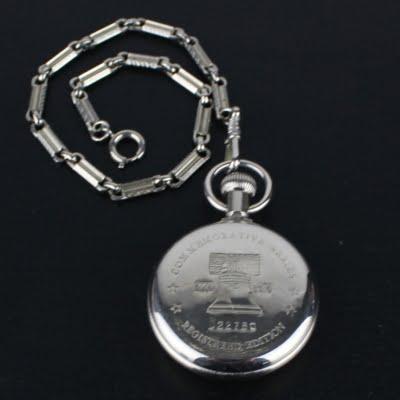 Vintage Mickey Mouse commemorative pocket watch by Walt Disney