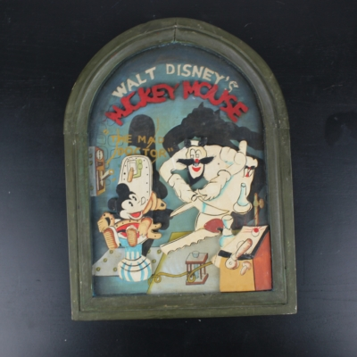 Vintage Mickey Mouse ''Mad Doctor'' wooden wall art