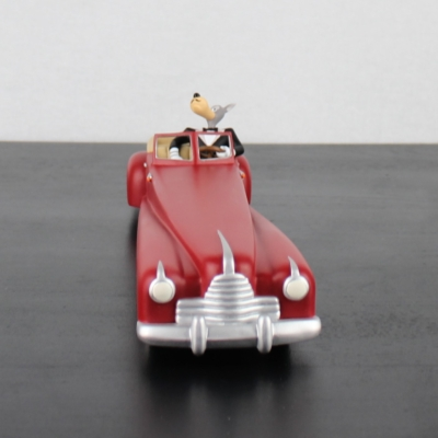 Vintage statue of Wolf in red limousine by Demons and Merveilles