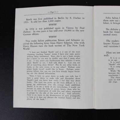 Bambi by Felix Salten first edition. Inner Sanctum version. 1928