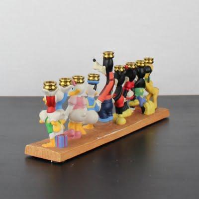 Walt Disney Hanukkah candlestick
