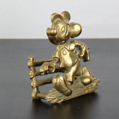 Mickey Mouse letter holder from brass by GATCO in license of Walt Disney.