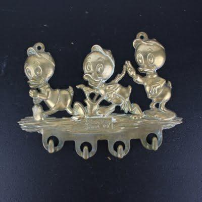 Huey Dewey and Louie triple wall bracket from brass by GATCO