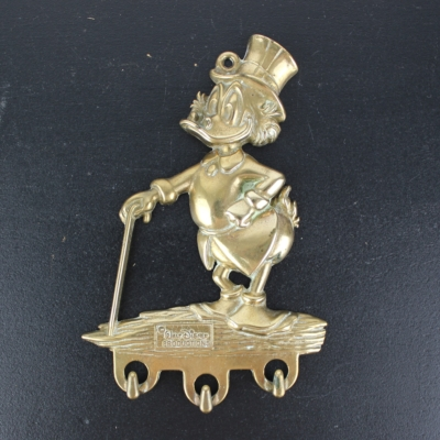 Vintage Scrooge McDuck triple wall bracket from brass by GATCO