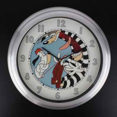 Vintage Wolf and Droopy clock by Demons and Merveilles