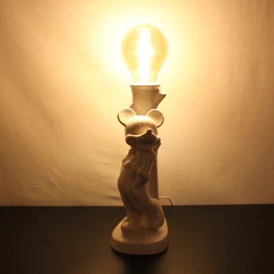 Vintage ceramic Mickey Mouse lamp by Walt Disney