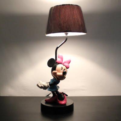 Vintage Minnie Mouse lamp by Walt Disney