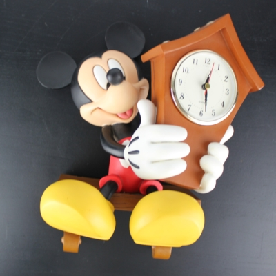 Sculptured Mickey Mouse wall clock