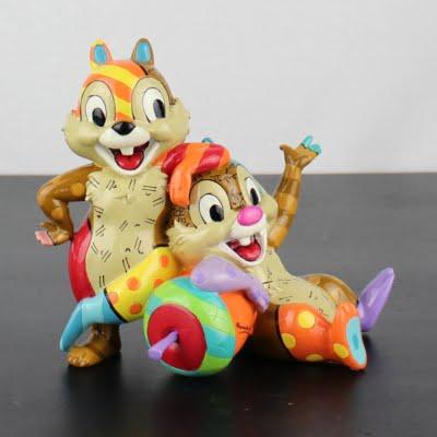 Chip and Dale statue by Romero Britto