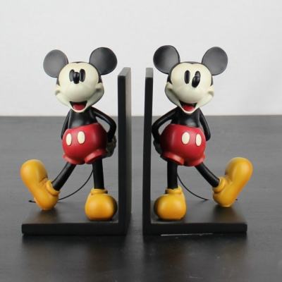 Mickey Mouse sculptured bookends by Walt Disney