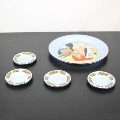 Vintage Tex Avery enamel tableware by Demons and Merveilles