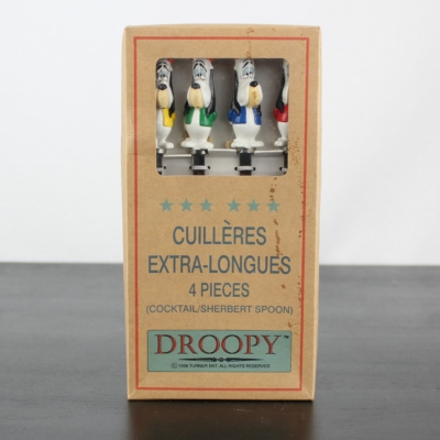 Set of 4 vintage Droopy cocktail spoons by Turner Entertainment