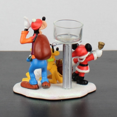 Mickey Mouse, Pluto, Goofy and Donald Duck candle stand Walt Disney