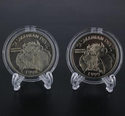 Tasmanian Devil coins by Warner Bros