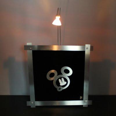 Vintage Mickey Mouse lamp by Jie Art in license of Walt Disney