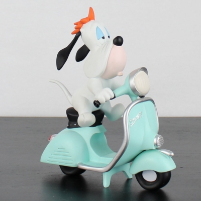 Vintage Droopy on his scooter statue. By Demons and Merveilles