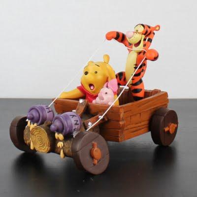 Vintage Winnie the Pooh, Tigger and Piglet racing statue by Walt Disney