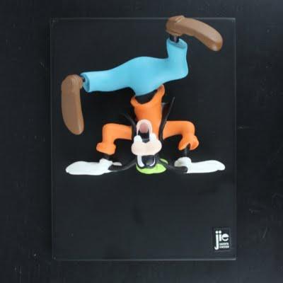 Vintage Goofy Life 's up N' down by Jie Art in license of Walt Disney