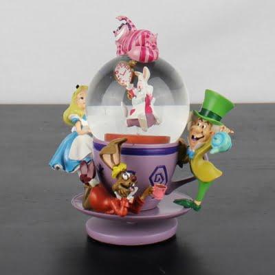Alice in Wonderland snowglobe by Walt Disney