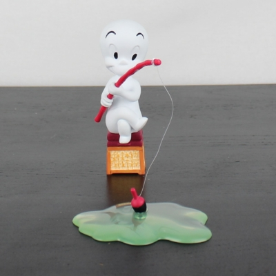 Vintage statue of Casper the friendly ghost fishing by Demons and Merveilles