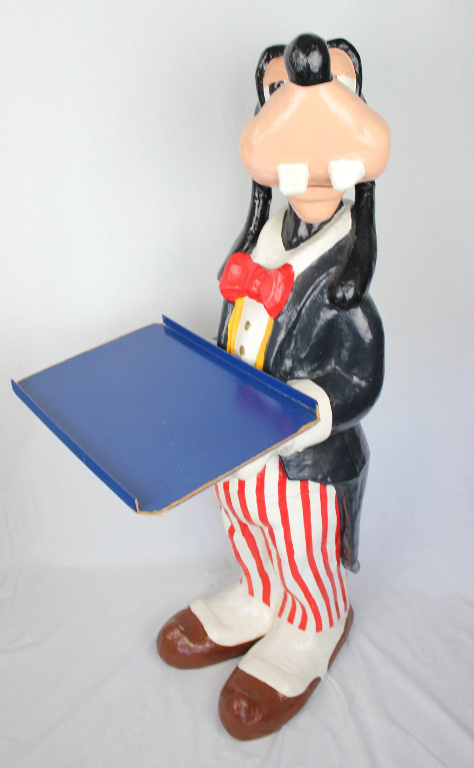 Goofy Papier-maché butler What's New? in license of Walt Disney