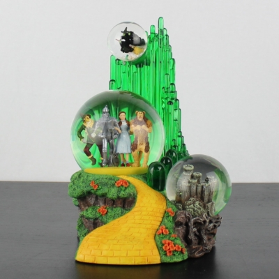 Vintage Wizard of Oz musical snowglobe yellow brick road