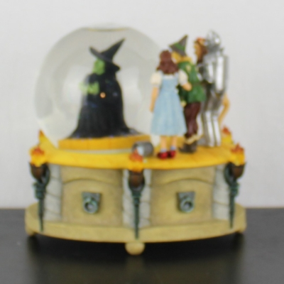 Vintage Wizard of Oz musical snowglobe Wicked Witch Melting