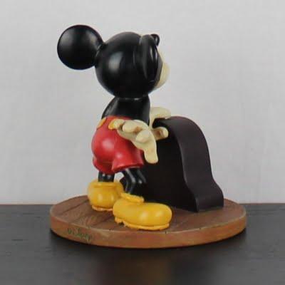 Vintage Mickey Mouse desk clock by Walt Disney