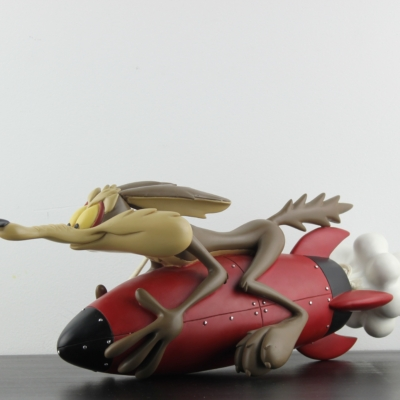 Wile E. Coyote on a rocket statue Looney Tunes statue by Warner Bros