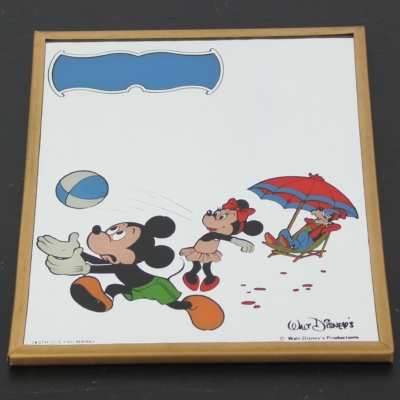 Vintage Mickey, Minnie Mouse and Goofy mirror by Par Marki in license of Walt Disney